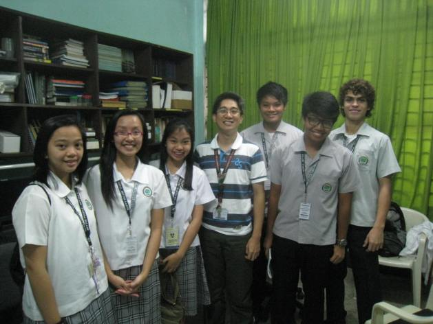 From left: Raffy Aligaen, Ice Cedro, Nicole Salvador, Dr. Francis Magbanua, Vincent Valera, Edward de Leon, and Nikko Nackaerts